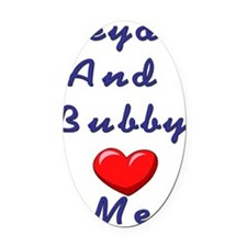ZB 2 Love me Oval Car Magnet