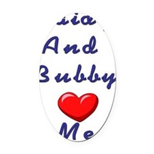 Zb Love me Oval Car Magnet