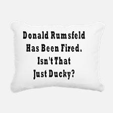 Rumsfeld Fired Rectangular Canvas Pillow