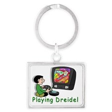 Playing Driedel Landscape Keychain
