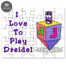 I Love To Play Dreidel Purple Puzzle