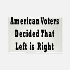 Let is Right Black Rectangle Magnet