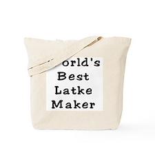 Worlds Best Latke Maker Black Tote Bag