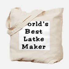 Worlds Best Latke Maker Black Tote Bag