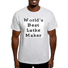 Worlds Best Latke Maker Black T-Shirt
