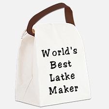 Worlds Best Latke Maker Black Canvas Lunch Bag