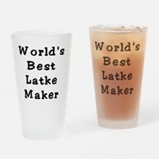 Worlds Best Latke Maker Black Drinking Glass