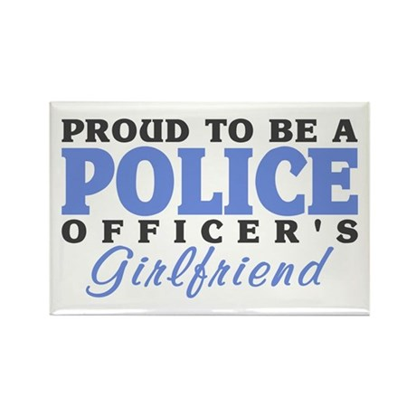 Proud Police Girlfriend Rectangle Magnet