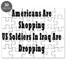 US Soldiers Dropping Puzzle