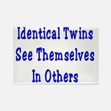 Identical Twins Rectangle Magnet