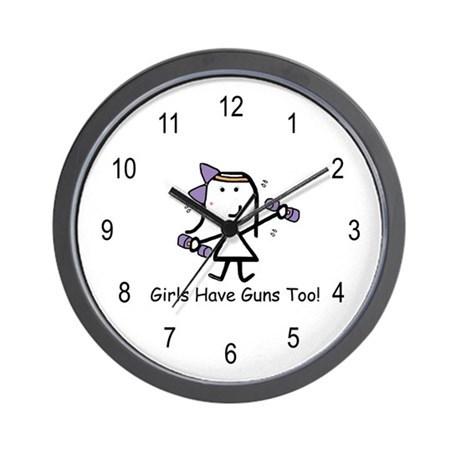Exercise - Girls Guns Wall Clock