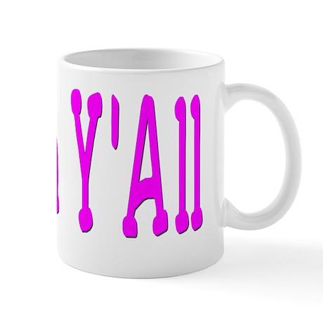 Shalom Yall pink Mug