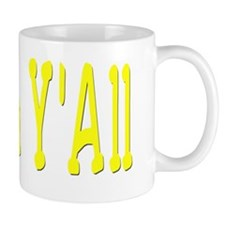 Shalom Yall Yellow Small Mug