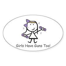 Exercise - Girls Guns Decal