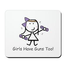 Exercise - Girls Guns Mousepad