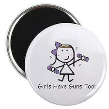 Exercise - Girls Guns Magnet