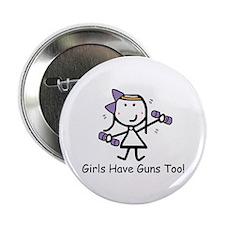 "Exercise - Girls Guns 2.25"" Button"