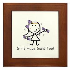 Exercise - Girls Guns Framed Tile