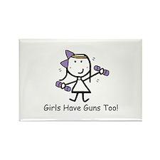 Exercise - Girls Guns Rectangle Magnet