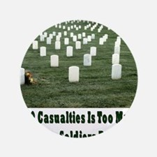 "3000 casualities 3.5"" Button"