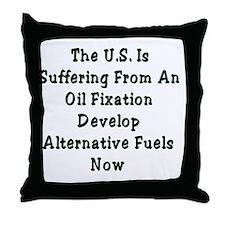 Oil Fixation Throw Pillow