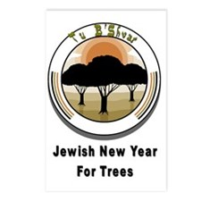Jewish New Year Trees Postcards (Package of 8)