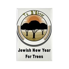 Jewish New Year Trees Rectangle Magnet