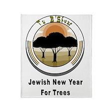 Jewish New Year Trees Throw Blanket