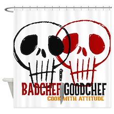 BadChef GoodChef Logo Shower Curtain