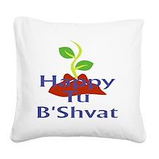 Happy Tu BShvat Square Canvas Pillow