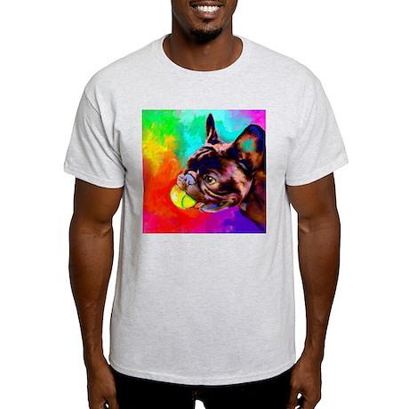 French Bulldog 6 Ash Grey T-Shirt