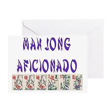 mah jong aficionador Greeting Card