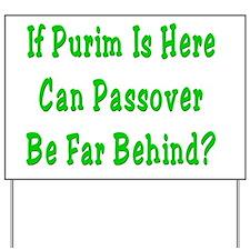 Purim Passover Yard Sign