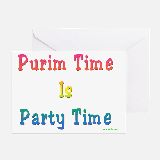 PurimTIme Party Time Greeting Card