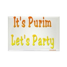 Its Purim Party Rectangle Magnet