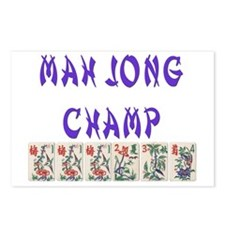 mah jong champ Postcards (Package of 8)