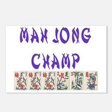 mah jong champ Postcards (Package of 8)