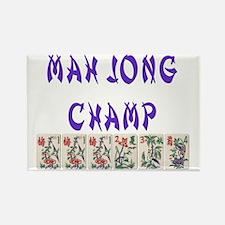 mah jong champ Rectangle Magnet