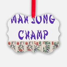 mah jong champ Ornament