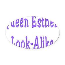 Queen Esther flat Oval Car Magnet