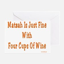 Matzah wine3 flat Greeting Card