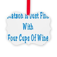 matzah wine2 Ornament