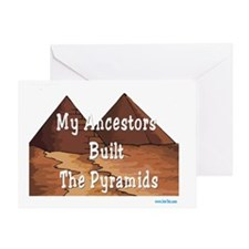 Pyramids picture flat Greeting Card