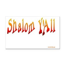Shalom Yall Fire flat Rectangle Car Magnet