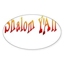 Shalom Yall Fire flat Decal