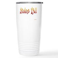 Shalom Yall Fire flat Travel Mug