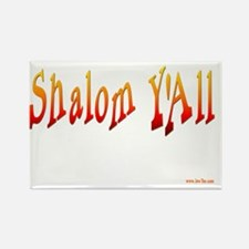 Shalom Yall Fire flat Rectangle Magnet