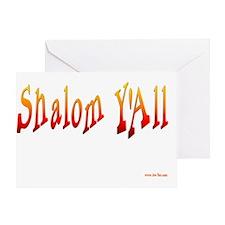Shalom Yall Fire flat Greeting Card