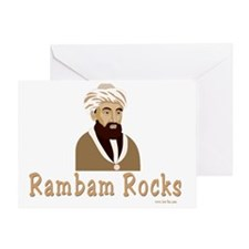 Rambam Rocks Black flat Greeting Card
