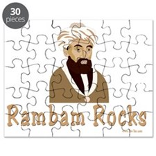 Rambam Rocks Black flat Puzzle
